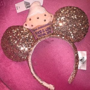 Disney parks Epcot rose gold cupcake ears 2019 new